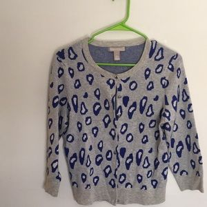 Banana Republic sweater front open with buttons.